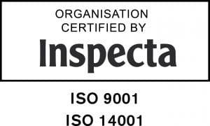ISO 9001 ja 14001 sertifioitu